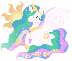 rise with the sun (STICKER) by MintyStitch