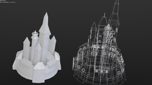Low-poly Magic castle by betasector