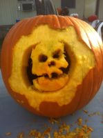Crimson Omen Pumpkin by Snoopy20111