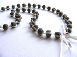 Ceramic Bead Necklace by Itherin