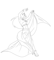 Ria Belly Dance lineart by Hina0126