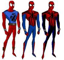 Spidey Ben suits by EvilHobo