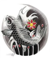 Japanese Koi Design by davepinsker
