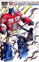 Transformers vs GI Joe sketch cover by hdub7