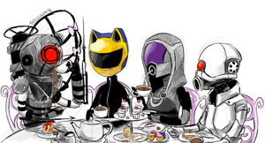 Helmet Girl Tea Time by Jesscookie