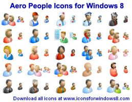 Aero People Icons for Wind... by Ikonod