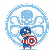 Mini Captain America Vector by funky23