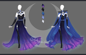 CLOSED Fashion adoptable auction ~ Lunar outfit by Ayleidians