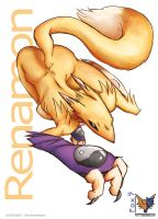 Renamon Atacando 2 by Fox777