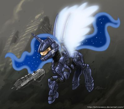 Gamer Luna is Ready for Halo 4 by johnjoseco