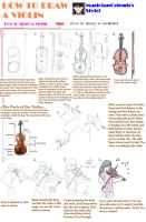 How to draw a Violin by MagicianCelemis