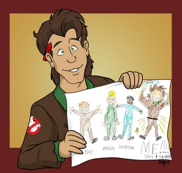 ALL FOUR Real Ghostbusters...by Peter by TDotBabs