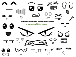 Chrissy's Chibi PS Brushes by EmeraldTokyo