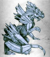 My ice dragom by GiuBlood92