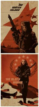 Red Room Propaganda Posters by Paperflower86