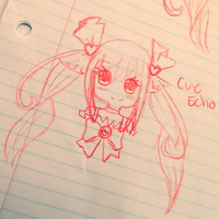 Cure Echo [Chibi] by Noname-chii