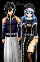 Gray and Juvia cap.303 by arwenviolet