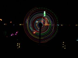 3D Glow Spin Art Burning Man by zhe-universe