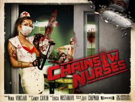 Chainsaw Nurses Poster by Jeffach