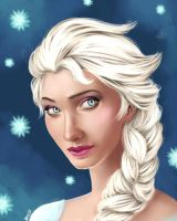 Elsa Frozen  by S-I-S-O