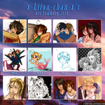 Art Summary 2015 by x-Lilou-chan-x