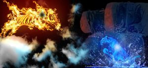 Jumps of Fire and Ice by monika-ngt