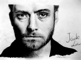 Jude Law drawing by StaceyGoldenberg