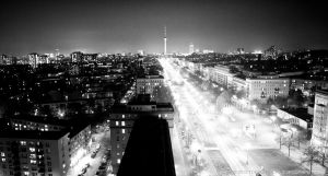 berlin night scene by toko