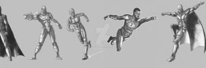 Justice League Concept Sketches by Kmadden2004