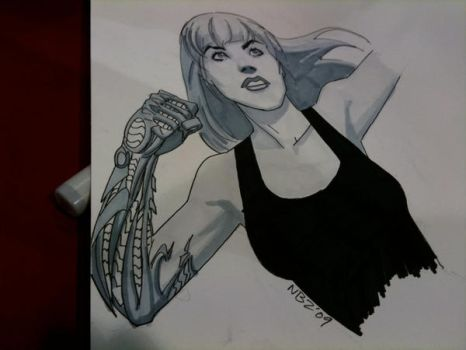SDCC Witchblade Sketch by NelsonBlakeII