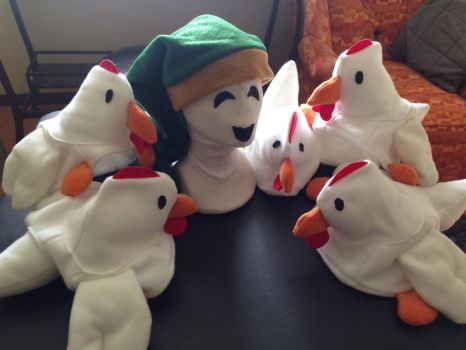 CUCCO SWARM and Link Hat Set by tacksidermia