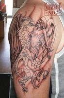 Angel and Dragon Tattoo by Green-Jet