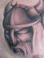 Freehand viking tattoo by hatefulss