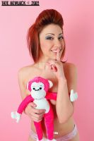 Hello Pink Monkey 09 by tatehemlock