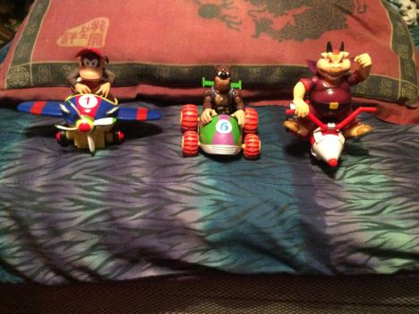 I now got all 3 of the Diddy kong racing figures by xxiseyik30harperxx