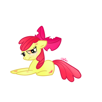 Applebloom (Sad) by PrincessDonut