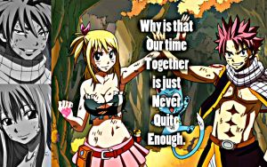 Natsu and Lucy, Together by Xela-scarlet