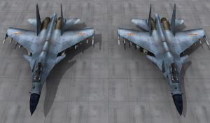 J-11 Su-30MKK4 re render by senor-freebie
