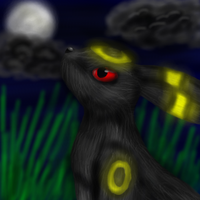Umbreon in the Moonlight by racingwolf