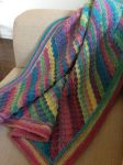 Candy Stripe Blanket by Brookette