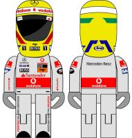 Lewis Hamilton USB Stick by tuestunim
