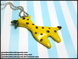Giraffe Necklace by GrandmaThunderpants