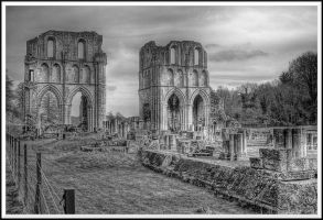 Roche Abbey - Mono... by TheBaldingOne