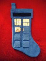 Tardis Stocking by Red-Flare
