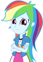 Human Rainbow Dash Vector by cool77778