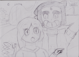 Art Trade: Luana Sees A Thingy by JavianWilliams
