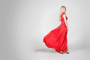 Denise - Red Dress by Pixelfusionen