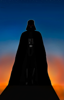 Darth Vader and the Sunrise by DAN1637IEL