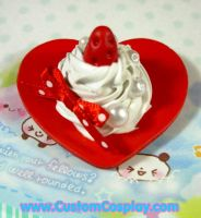 Strawberry sweet heart ring by The-Cute-Storm