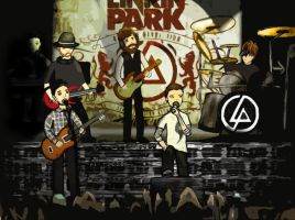 Linkin Park On The Stage by nasstaran